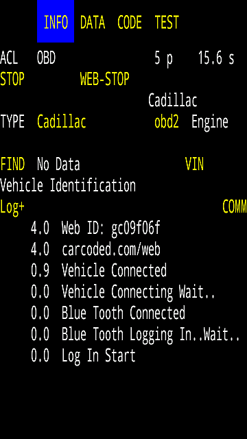OBD-2 Car Code Scan Tool Connection
